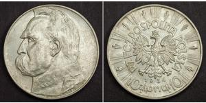 10 Zloty Second Polish Republic (1918 - 1939) Silver Józef Piłsudski