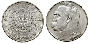 10 Zloty Second Polish Republic (1918 - 1939) Silver Józef Piłsudski