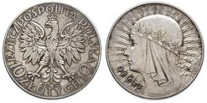 10 Zloty Second Polish Republic (1918 - 1939) Silver Jadwiga of Poland