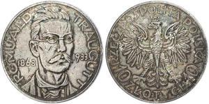 10 Zloty 波兰第二共和国 (1918 - 1939)  Romuald Traugutt
