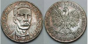 10 Zloty Deuxième République de Pologne (1918 - 1939)  Romuald Traugutt