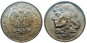 10 Zloty République populaire de Pologne (1952-1990)