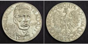 10 Zloty Seconda Repubblica Polacca (1918 - 1939)  Romuald Traugutt