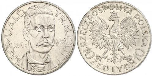 10 Zloty Zweite Polnische Republik (1918 - 1939)  Romuald Traugutt