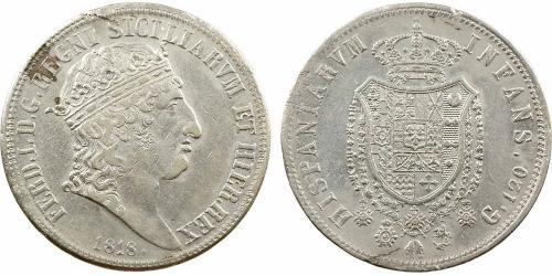 120 Grana Italian city-states 銀 Ferdinand I of the Two Sicilies (1751 - 1825)