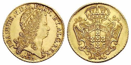 12800 Рейс Бразилия Золото Жуан V король Португалии (1689-1750)
