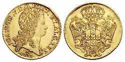 12800 Reis Brasilien Gold Johann V. von Portugal (1689-1750)