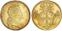 12800 Reis Kingdom of Portugal (1139-1910) Gold John V of Portugal (1689-1750)