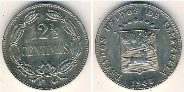 12.5 Centimo Venezuela Cuivre/Nickel
