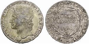 12 Carlin / 1 Piastre 意大利 / Italian city-states 銀