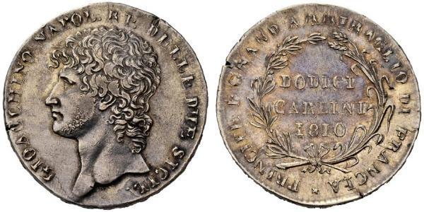 12 Carlin / 1 Piastre Italien / Italian city-states Silber