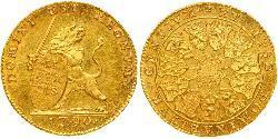 14 Florin Belgien Gold