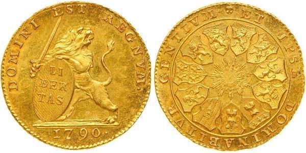 14 Florin Belgium Gold