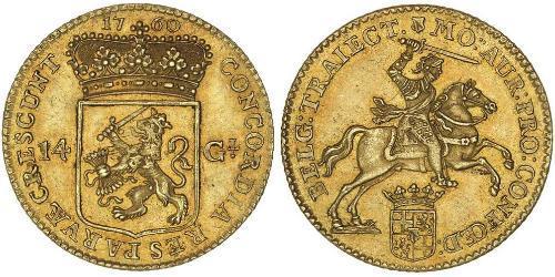 14 Gulden 荷蘭共和國 (1581 - 1795) 金