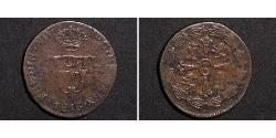 14 Real Mexico / Spanish Mexico  / Kingdom of New Spain (1519 - 1821) Copper