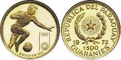 1500 Guaraní Republic of Paraguay (1811 - ) Gold