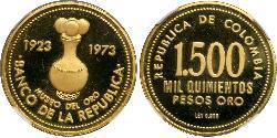 1500 Peso 哥伦比亚 金