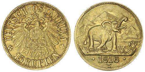 15 Рупия Германская Восточная Африка (1885-1919) Золото