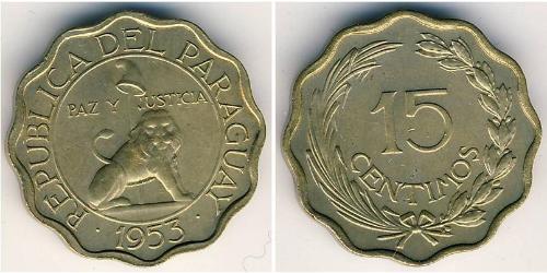 15 Centimo Republic of Paraguay (1811 - ) Bronze