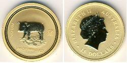 15 Dollar Australia (1939 - ) Gold