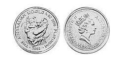 15 Dollar Australia (1939 - ) Platinum Elizabeth II (1926-)
