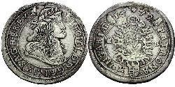 15 Kreuzer Reino de Hungría (1000-1918) Plata Leopoldo I de Habsburgo(1640-1705)