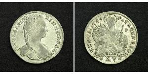 15 Kreuzer Reino de Hungría (1000-1918) Plata Maria Theresa of Austria (1717 - 1780)