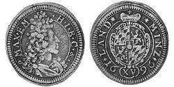 15 Kreuzer Kurfürstentum Bayern (1623 - 1806) Silber