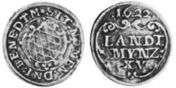 15 Kreuzer Duchy of Bavaria (907 - 1623) Silver Maximilian I, Elector of Bavaria (1573 – 1651)