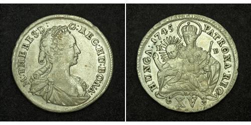 15 Kreuzer Kingdom of Hungary (1000-1918) Silver Maria Theresa of Austria (1717 - 1780)