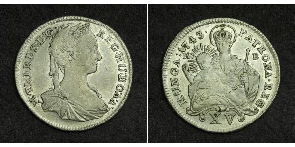 15 Kreuzer Kingdom of Hungary (1000-1918) Silver Maria Theresa of Austria (1717 - 1780)