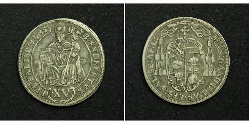 15 Kreuzer Salzburg Silver