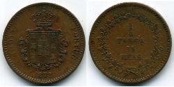 15 Reis / 1/4 Tanga India portuguesa (1510-1961) Cobre