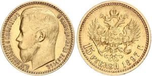 15 Rubel Russisches Reich (1720-1917) Gold Nikolaus II (1868-1918)
