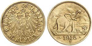 15 Rupee German East Africa (1885-1919) 金