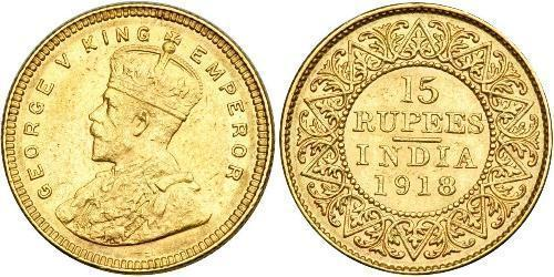 15 Rupee Raj britannique (1858-1947) Or George V (1865-1936)