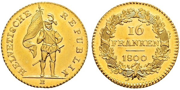 16 Franc 瑞士 金