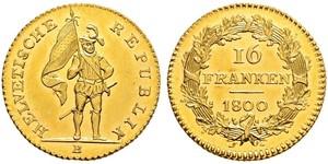 16 Franc Schweiz Gold