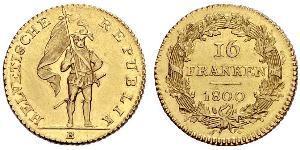16 Franc Switzerland Gold