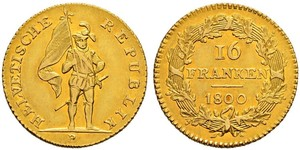 16 Franc Switzerland Gold