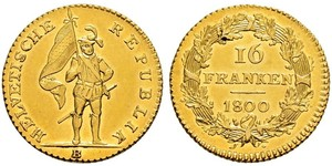 16 Franc Svizzera Oro