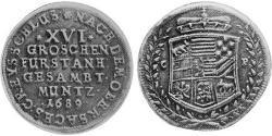 16 Groschen Анхальт (1212 - 1806) Срібло