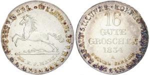 16 Groschen Hannover Argento Guglielmo IV (1765-1837)