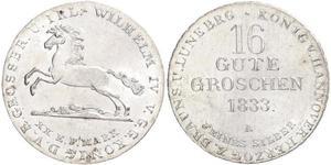 16 Groschen Hannover Plata Guillermo IV (1765-1837)