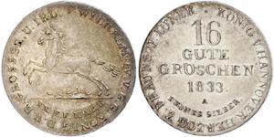 16 Groschen Hannover Silber Wilhelm IV (1765-1837)
