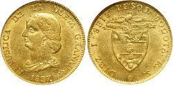16 Peso Republic of New Granada (1831–1858) Gold