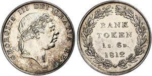 18 Пені Сполучене королівство Великобританії та Ірландії (1801-1922) Срібло Георг III (1738-1820)