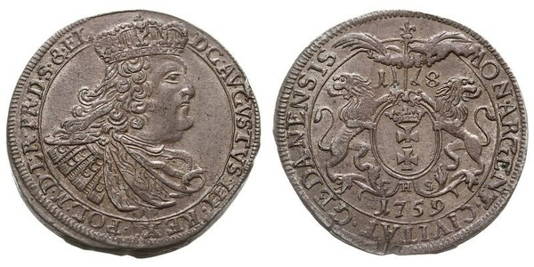 18 Grosh Gdansk  (1454-1793) 銀