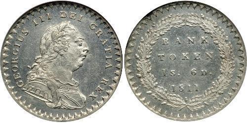 18 Penny Reino Unido de Gran Bretaña e Irlanda (1801-1922) Plata Jorge III (1738-1820)
