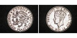 18 Piastre British Cyprus (1914–1960) Silver George VI (1895-1952)